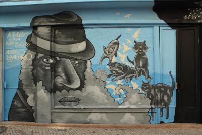 Graffiti de homenagem ao António (Setúbal, Dezembro de 2013)