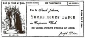 """A """"loja do tempo"""" de josiah warren, fundada em 1827, foi uma das experiências pioneiras na utilização de """"notas de trabalho""""."""