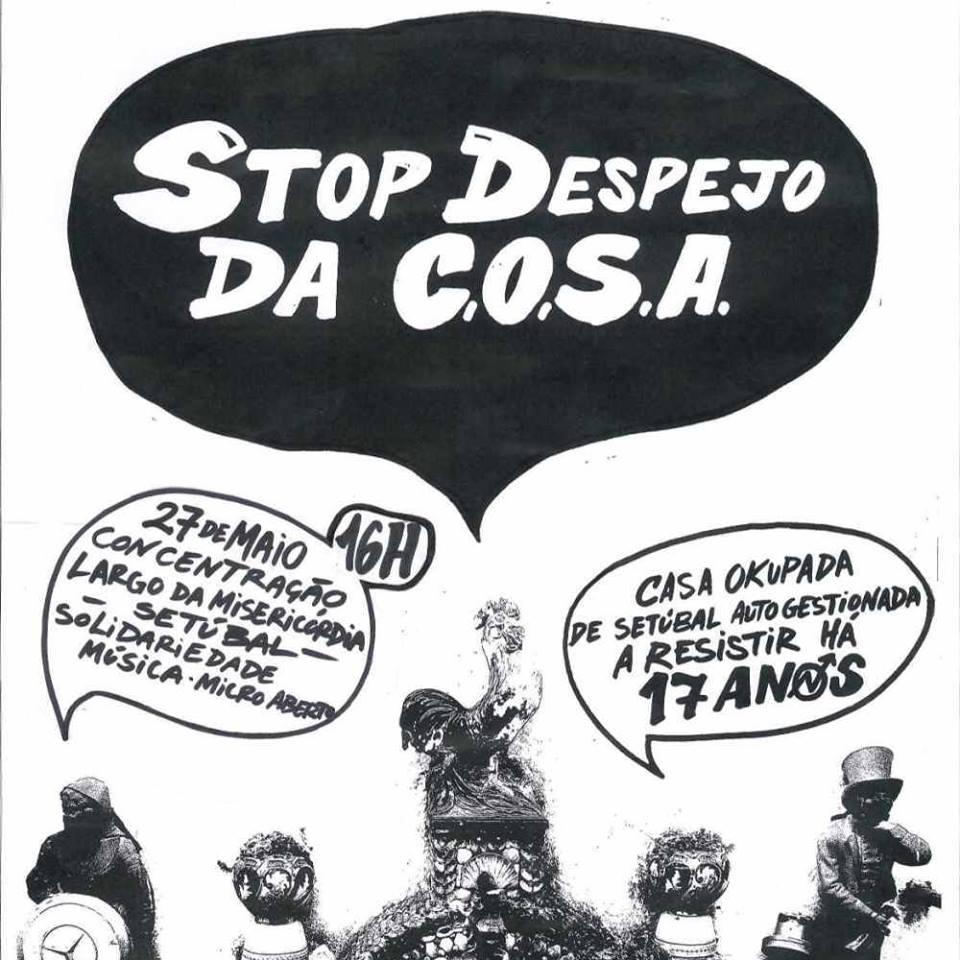 Concentração de apoio ao Centro Social COSA junta mais de 50 pessoas em Setúbal